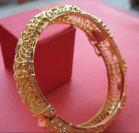 Wholesale noblest womens and girls solid K yellow gold GP bangle bracelet Gift Jewelry chain bracelet bangle