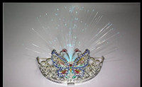 Wholesale LED light up crown flashing hair stick tiara flash jewellery toys party halloween christmas girls