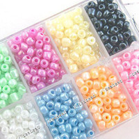 Seed   4Boxes Mixed Colorful Jewellery Making Seed Beads Sets fashion bracelets hand made Bead 110081