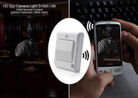 Wholesale Freeeshipping HD Spy Camera Light Switch with GSM Remote Control Motion Detection MMS Alert
