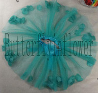 Wholesale Colorful Baby pettiskirt amp Underdress with Petals Material Chiffon