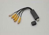 Wholesale promotion CHANNEL USB DVR Video Audio Capture Adapter Easycap