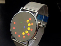 Wholesale new fashion gift Men s LED mirror watch lady unisex wrist Watches LED1046