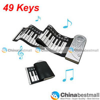 Wholesale 49 key soft piano hand rolled Piano Folding Piano silicone piano portable keyboard