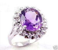 beautiful social - Beautiful Mosaic class purple Cubic Zirconia by Crystal surrounded ring for Gifts social gatherings