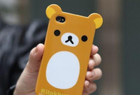 Wholesale Die Cut Cover Case Rilakkuma Lazy Bear Skin Protector Soft silicone Back Cover for G pc