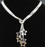 Wholesale hot sell New Sterling Silver fashion jewelry chain star necklace hot sale N152