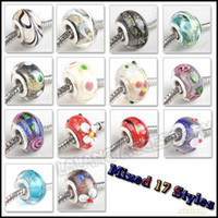 Wholesale Mixed Lampwork Glass Beads Charm Loose Jewelry Beads mm Fit European Bracelet