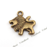 Wholesale 120 HOT SALE Lion Shape Charms Pendants Beads Antique Bronze Tone Pandent Fit CHAINS Necklace