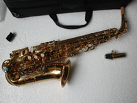 Wholesale Very nice Woodwind Brass Gold new Alto Saxophone Very beautiful