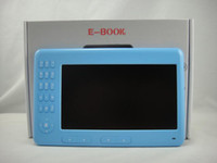 Wholesale NEW quot ebook reader Rockchip CPU G with MP3 MP4 MIC Vidio player P blue color