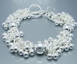Vogue jewelry 925 Silver beautiful grape beads bracelet charm bracelets fit pretty box