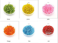 Silver Silver Glass 4mm big Glass Seed Beads Silver core bead DIY Bracelets Necklaces Mixed color 20set lot