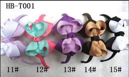 baby girl grosgrain ribbon covered headband dotted ribbon hairbows headbands 100pcs lot