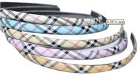 Wholesale Mix Color Plaid Hairband Hair Ornaments HJ12