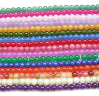 Wholesale round mm Multicolor jade gemstone loose Beads