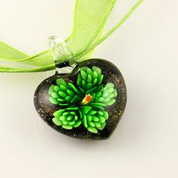 Splendid Italian venetian lampwork blown heart flower murano glass pendants for necklaces jewelry cheap china fashion jewelry
