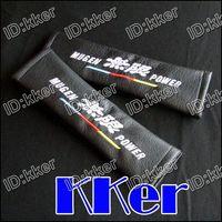 Wholesale 100 Sets D X Black For TRD Brabus Leather Seat Belt Shoulder Of Cushion Pads Support mflds