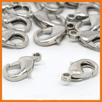 Wholesale Hot Alloy Brass Silver Plated Trigger Clasp Findings Connector With Spring Ring