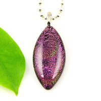 el arte de oliva fusionado colgantes de cristal de murano lámina dicroicas para los collares de la joyería barata Mup050 la moda china