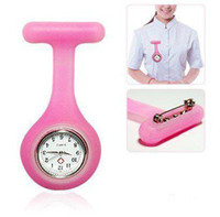 Wholesale DHL Free silicone nurse watch nurse pin watch silicon nurse fob watch pocket nurse watch