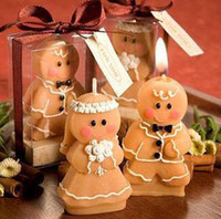Wholesale wedding favor Adorable Gingerbread Bride amp Groom Candle Favours