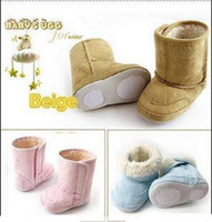 Wholesale faux suede Infant Shoes toddler shoes baby slippers anti skid shoes girls boots baby cotton shoes