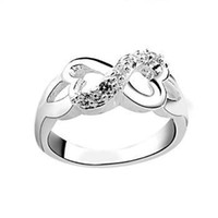 Wholesale Fahion Finger Ring Size Jewelry Silver Heart Ring Sales Promotion KR064
