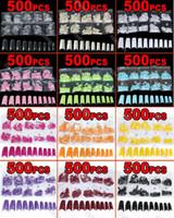 Half French Nail Tips Oval Nail Tips Brand new 12 color choice (500 pcs in a bag) Acrylic French Half False Nail Art Tips