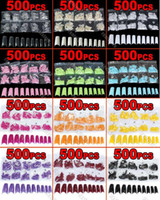 Half acrylic finger nails - Hot Sales Fashion Brand new color choice in a bag Acrylic French Half False Nail Art Tips tx1