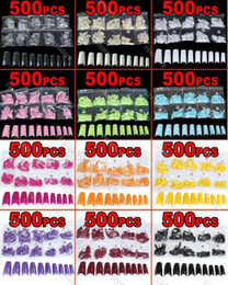 Wholesale Hot Sales Fashion Brand new color choice in a bag Acrylic French Half False Nail Art Tips tx1