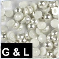 Wholesale 10000pcs pearl white imitation pearls half round flatback pearls