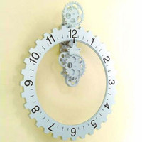 Wholesale Brand new Retro Modern Big gear wall clock Table Clock Art Clock Metal amp Plastic Clock Craft Clock