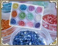 CRUSHED SHELL acrylic nail shell - 12 Colors Crushed Shell Powder Nail Art UV Gel Acrylic