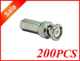 BNC Twist On CCTV RG59 Coax Cable Connectors 200pcs + Free shipping