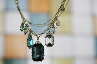 Pendant Necklaces baroque gemstone necklace - Hotting Temperament Pure Baroque Style Jewelry Necklace Crystal gemStone Pendant Necklaces