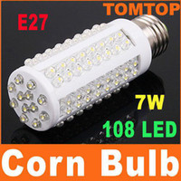 Wholesale Ultra bright Cob LED bulb W E27 V Cold White light LED lamp with led degree Spot light H4137