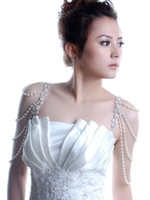 Wholesale crystal Pearl dinner party marriage metal bra belt strap