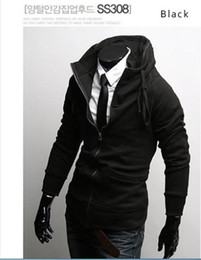 Wholesale Mens Hoodies JacketS New Slim Sexy Top Designed Zip up Black Dark Light Grey Wine Size M L XL XXL