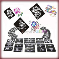 Wholesale 50 Sheets Stencils for Body Painting Glitter Tattoo Kit Supply
