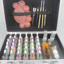 Wholesale Pro Body Painting Tattoo Deluxe Kit Colors Supply Kit glitter tattoo kit Body Art Luxurious Kit