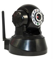 Wholesale Wireless Wifi IP Camera IR NightVision LED Indoor PTZ Dual Audio Black white T8808RW e_shop2008