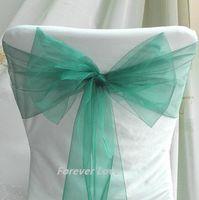 Wholesale 75pcs quot cm W x quot cm Wedding Party Banquet TEAL BLUE Chair Organza Sash