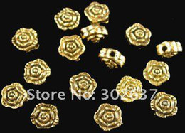 360pcs Alloy Metal Antiqued gold plt ROSE spacer beads 7mm A286G