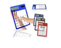 calculator - 6pcs Solar Calculator Transparent Calculator touch screen calculator ultrathin calculator