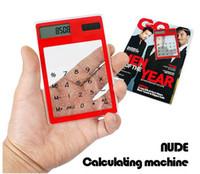 Wholesale 36pcs Solar Calculator Transparent Calculator touch screen calculator ultrathin calculator School Supplies Calculators