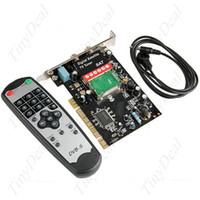 Wholesale DVB S Digital Satellite HDTV SDTV TV Receiver Tuner PCI Card with Remote Control