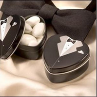 Wedding   wedding favor--Dressed to the Nines - Tuxedo Mint Tin which is used as candy packing