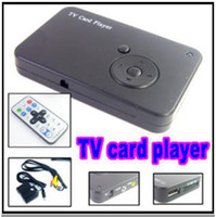 Wholesale TV Card Reader for SD MMC MS Movie Video Photo MP3 MP4 Player Black