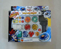 Wholesale Super Top Metal Beyblade Spinning Tops Toys With Four Beyblade One Handle carton